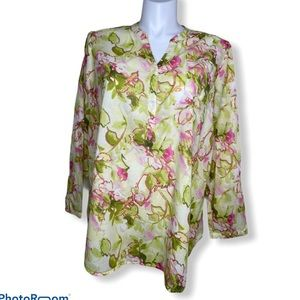 Lane Bryant Floral cotton top Size 22/24